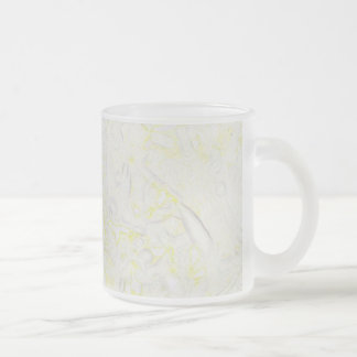 Blanket Flower Frosted Glass Coffee Mug