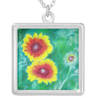 Blanket Flowers by Laurie Mitchell Necklace