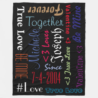 Blanket Forever Love Valentine Be Mine Personalize