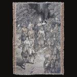 Blanket/Throw - Viking Clan at Night Throw Blanket