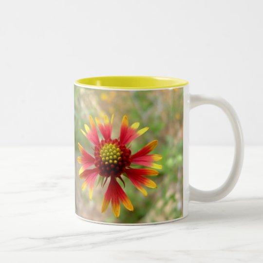 Blanketflower desert wildflower Gaillardia Two-Tone Coffee Mug