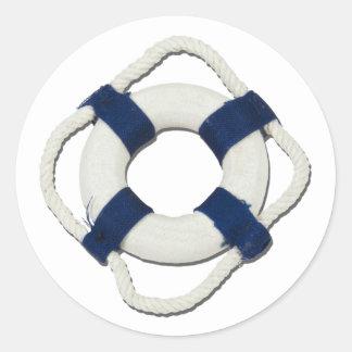 BlankLifePreserver081212.png Classic Round Sticker