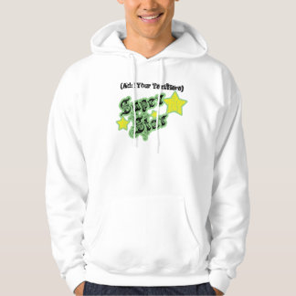 Blank's SuperStar Personalize and Customize Hooded Sweatshirt
