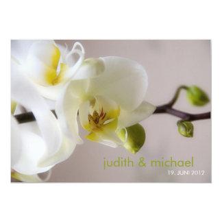 Blanquea orquídea • invitación de nupcial