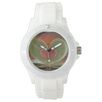 blanquea uhr con herzmuster modelo corazón relojes de pulsera