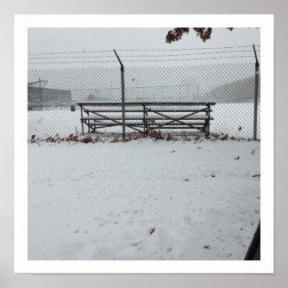 Blanqueadores cubiertos por el poster de la nieve