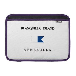 Blanquilla Island Venezuela Alpha Dive Flag MacBook Air Sleeves