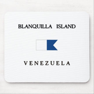 Blanquilla Island Venezuela Alpha Dive Flag Mouse Pad