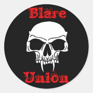 Blare Union Band Logo Classic Round Sticker