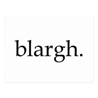 Blargh Tarjeta Postal