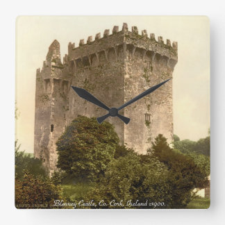 Blarney Castle clock, Co. Cork, Ireland. Square Wall Clock