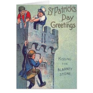 Blarney Castle Stone Kissing Card