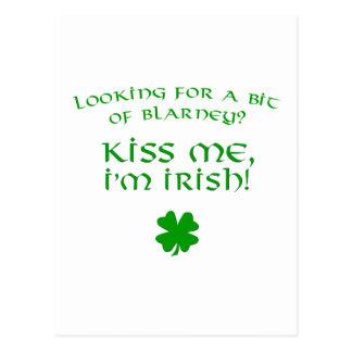 Blarney Kiss - Irish Postcard