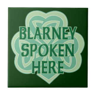 Blarney Spoken Here Celtic Knot Tile