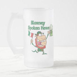 Blarney Spoken Here Mugs and Steins Glass Beer Mugs