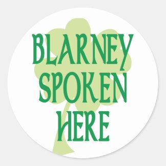 Blarney Spoken Here Sticker