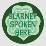 Blarney Spoken Here Stickers