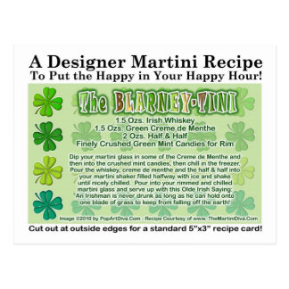 Blarney-Tini St. Patrick's Day Martini Recipe Card