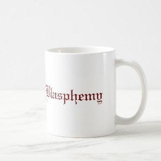 Blasfemia (roja) taza clásica