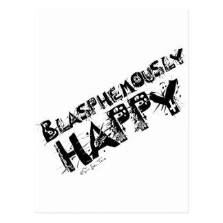 Blasfemo feliz postal