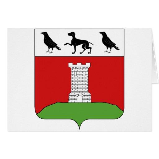 Blason de la ville de Berberust-Lias Tarjeta De Felicitación