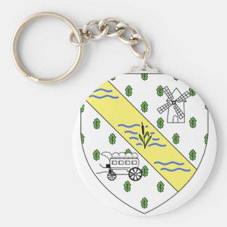 Blason La Queue-lez-Yvelines Key Chain