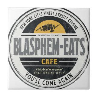 Blasphem-Come Azulejo Cuadrado Pequeño