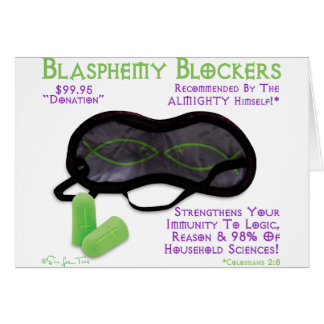 Blasphemy Blockers Card