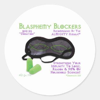 Blasphemy Blockers Classic Round Sticker