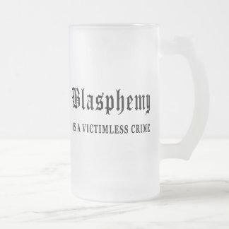 Blasphemy 16 Oz Frosted Glass Beer Mug