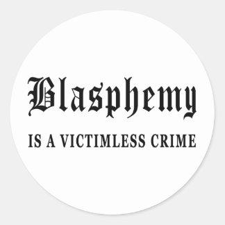Blasphemy Round Stickers