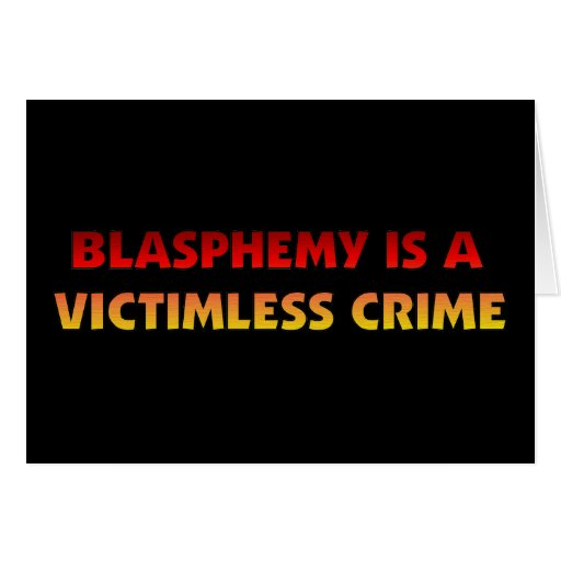 Blasphemy Victimless Crime Card