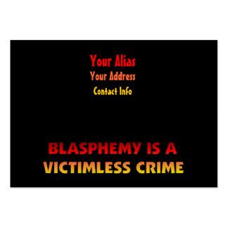 Blasphemy Victimless Crime Large Business Card