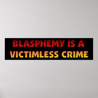 Blasphemy Victimless Crime Posters
