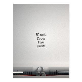 Blast From The Past Typewriter Postcard
