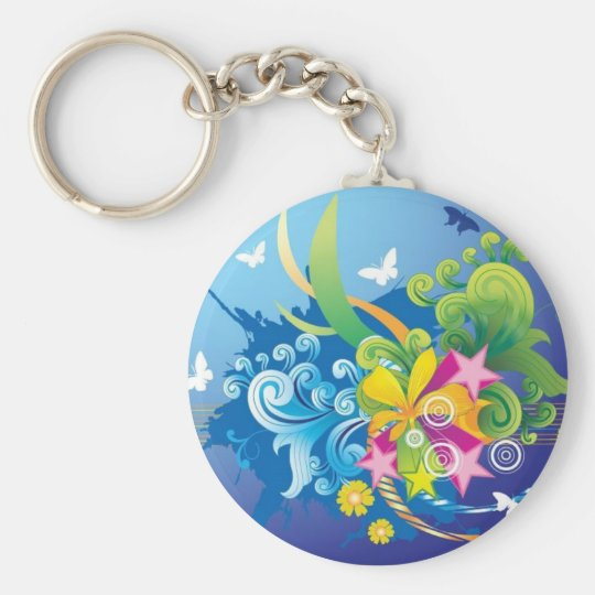Blast of beauty keychain
