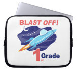 Blast Off 1st Grade Laptop Sleeves