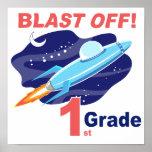 Blast Off 1st Grade Print