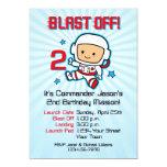 Blast Off 2nd Birthday Invitation