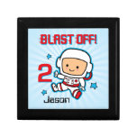 Blast Off 2nd Birthday Personalized Gift Box