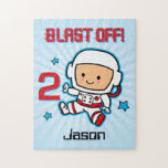 Blast Off 2nd Birthday Personalized Puzzle