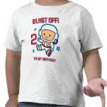 Blast Off 2nd Birthday T-Shirt