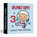 Blast Off 3rd Birthday Keepsake Binder
