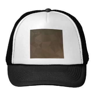 Blast Off Bronze Abstract Low Polygon Background Trucker Hat