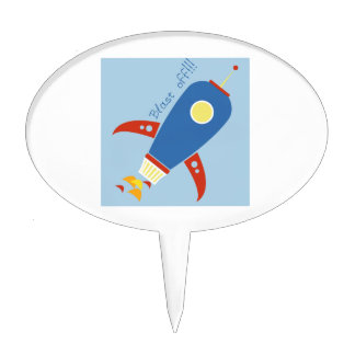 Blast Off Cake Toppers