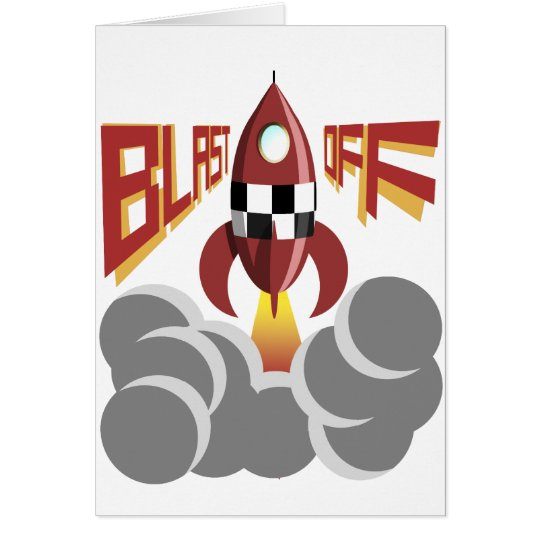 Blast Off Card