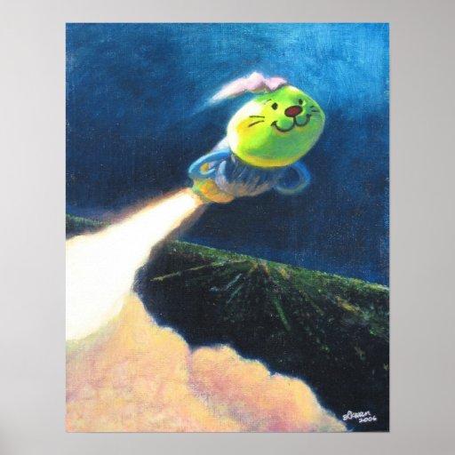 Blast Off Caterpillar Friend! Print