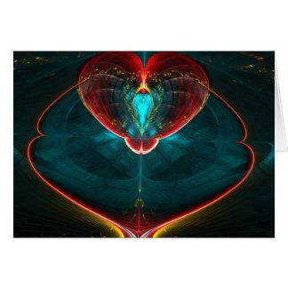 Blast off Heart Card