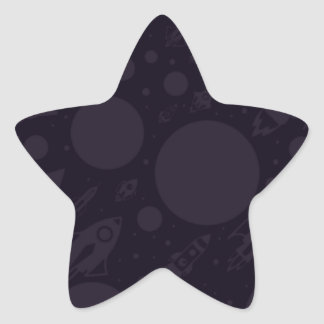 Blast Off Into A New Year Star Sticker
