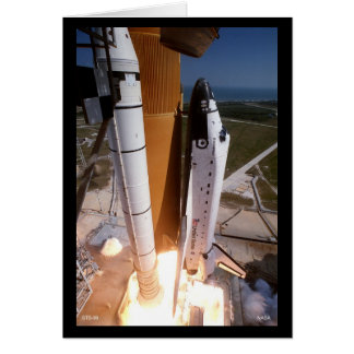 """Blast-off of the Space Shuttle """"Endeavor"""" Card"""